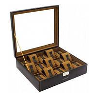 Шкатулка для зберігання годин Friedrich Lederwaren Bond 15, коричнева