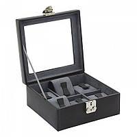 Шкатулка для хранения часов Friedrich Lederwaren Infinity 6, черная