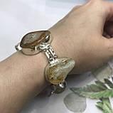 Цитрин агат перли браслет з натури агатом цитрином і бароковим перлами браслет з каменем цитрин в сріблі Індія, фото 5