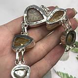 Цитрин агат перли браслет з натури агатом цитрином і бароковим перлами браслет з каменем цитрин в сріблі Індія, фото 8