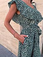 Женское платье длиною миди, без рукавов, со сборкой на груди, фото 2