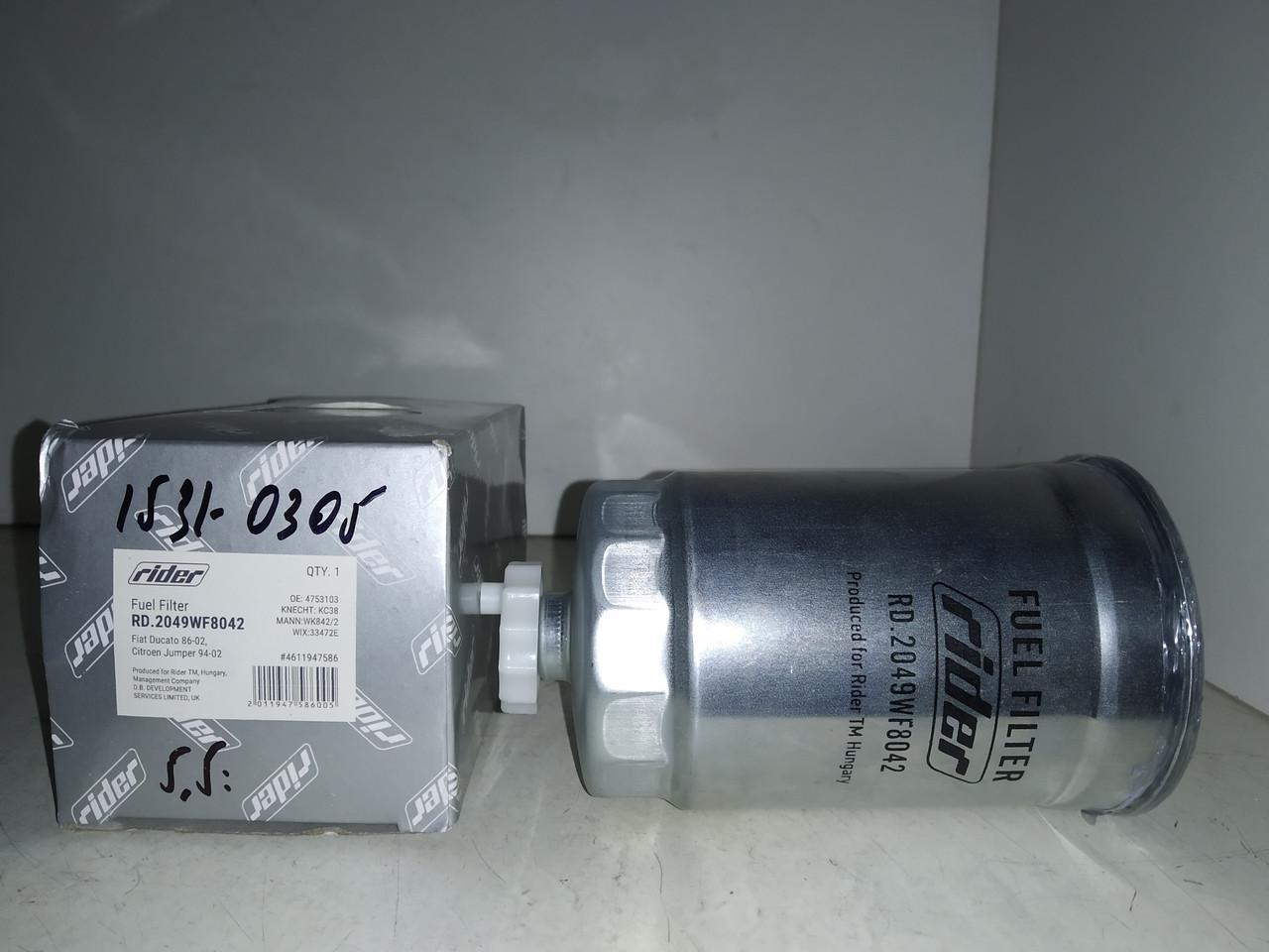 Фильтр топливный FIAT DUCATO 86-02, TIPO, TEMPRA 88-96, CITROEN JUMPER 94-02 (DIESEL)