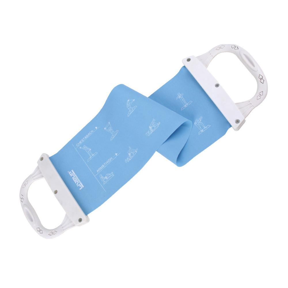 Эспандер лента с ручками LiveUp Latex Band With Handle 60х15 см Blue-Grey (LS3608)