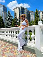Стильный легкий костюм женский (топ на змейке и брюки), фото 2