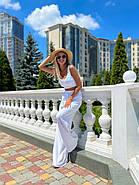Стильный легкий костюм женский (топ на змейке и брюки), фото 5