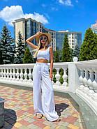 Стильный легкий костюм женский (топ на змейке и брюки), фото 6