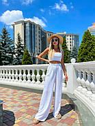 Стильный легкий костюм женский (топ на змейке и брюки), фото 4