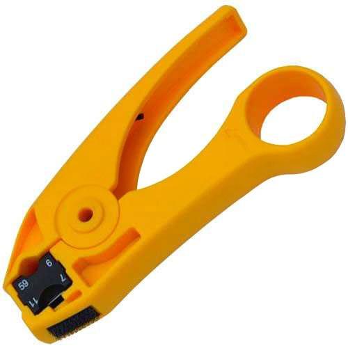 HT-351 стриппер инструмент для зачистки коаксиального кабеля RG-59, RG-6, RG-7, RG-11 Hanlong