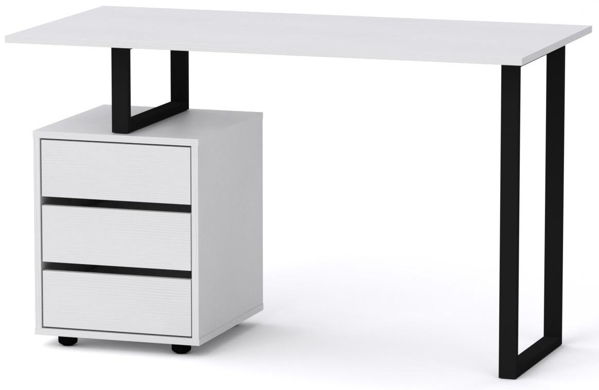Стол письменный Лофт-2 Компанит Нимфея альба (120х60х72,8 см)