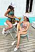Модный раздельный трикотажный купальник с топом и высокой талией, фото 7