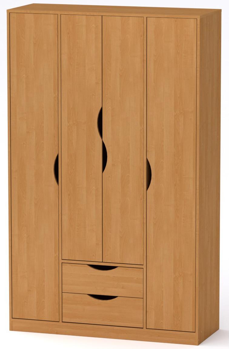 Шкаф для вещей Любовь Компанит Ольха (120х44,8х195 см)