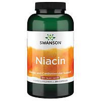 Ниацинамид, Swanson, Niacinamide, 250 мг, 250 капсул
