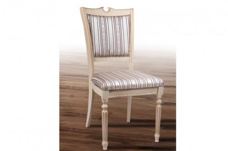 Обеденный классический стул из массива ясеня -Сицилия Люкс. (слон.кость)