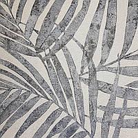 Обои виниловые на флизелиновой основе Rasch Linares 0.53х10 м папоротник листья серые серебристые на белом, фото 1