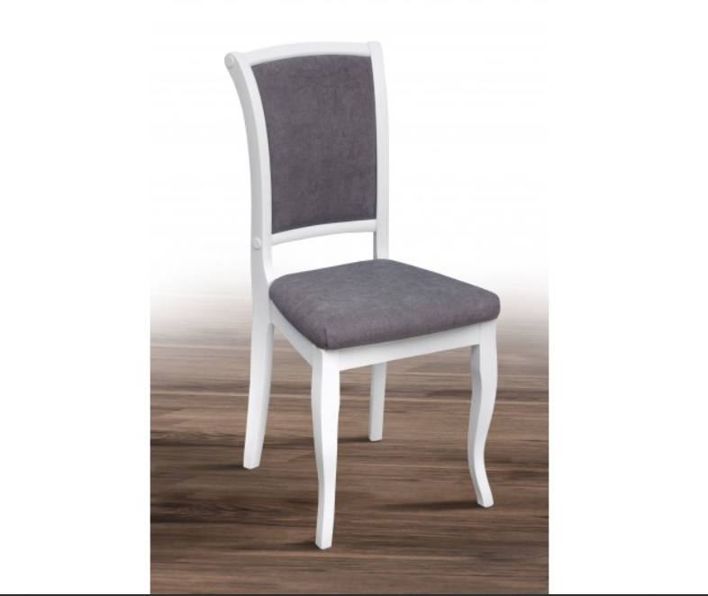 Обеденный стул из массива ясеня -Марио.(белый)