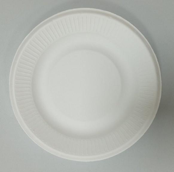 Тарелка бумажная круглая d155 белая