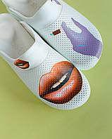 "Медична взуття сабо ""Lips injection"" c підошвою AirMax, фото 1"