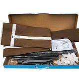 Шафа тканинний складаний 8865 коричневий 90/45/160, фото 3