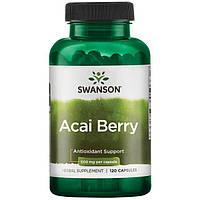 Ягоды Асаи, Swanson, Acai Berry, 500 мг, 120 капсул
