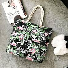 Холщовая пляжная сумка наплечные сумки с принтом, повседневные сумки Материал:Холщовая