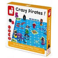 Настольная игра для двоих Сумасшедшие пираты Janod развивающая, интеллектуальная
