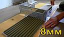 Гребінка-трансформер для укладання плитки 8*8мм, нержавіюча сталь, фото 3
