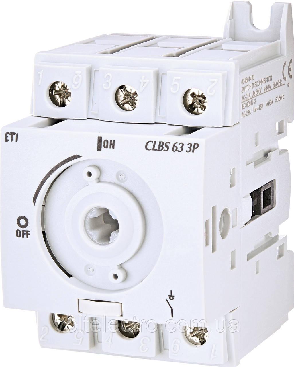 Вимикач навантаження CLBS 63 3P