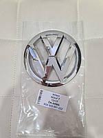 Эмблема значок на решетку радиатора Volkswagen VW GOLF 7 (12-17)  (D=135мм) перед (5G0 853 601 2ZZ), фото 1