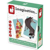 Настольная игра для всей семьи Воображение Janod карточная, развивающая