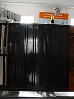 Распашные ворота. Зашивка — ПРОФНАСТИЛ (горизонтальное исполнение)