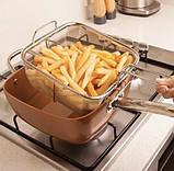 Сковорода фритюрниця пароварка 8 в 1 UNIQUE UN 5251, 24 см, фото 3