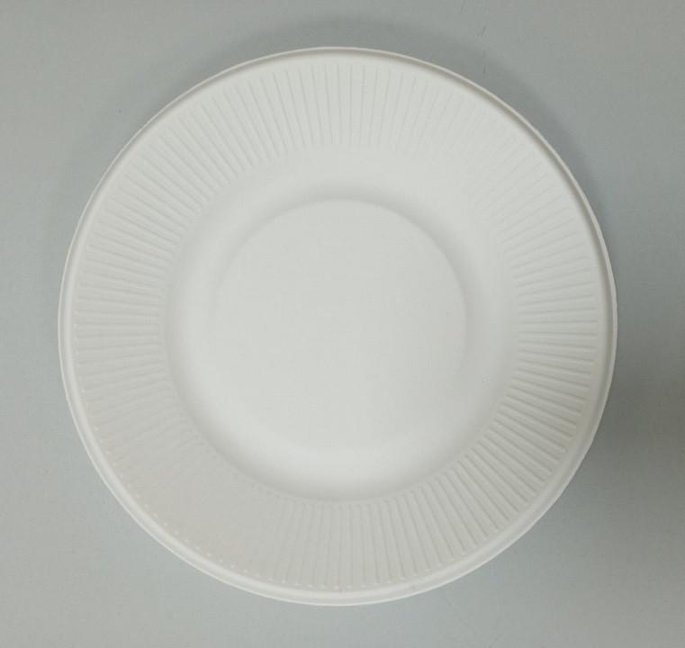 Тарілка паперова кругла біла d205