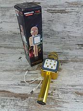 Беспроводной микрофон для караоке WS-1818 с функцией изменения голоса. Bluetooth микрофон, фото 3