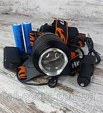 Аккумуляторный многофункциональный налобный фонарь X-Balog BL-2199-T6. Мощный светодиодный фонарик., фото 3