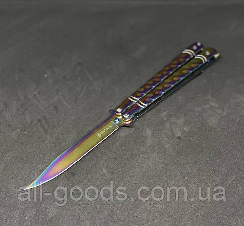 Нож бабочка или балисонг GERBFR 22 см АК-53 градиент. Нож-бабочка. Складной нож., фото 2