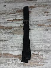 Універсальний плетений ремінь гумка 40 мм чорний, оригінальний модний текстильний ремінь, фото 2