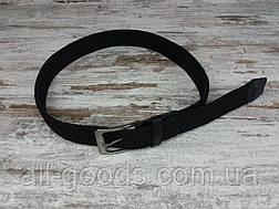 Універсальний плетений ремінь гумка 40 мм чорний, оригінальний модний текстильний ремінь, фото 3