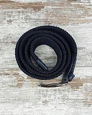 Универсальный плетенный ремень резинка 40 мм синий, оригинальный модный текстильный ремень, фото 3