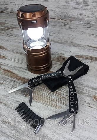Кемпинговый складной фонарь G-85 в комплекте с многофункциональным ножом мультитул-плоскогубцы (726120), фото 2