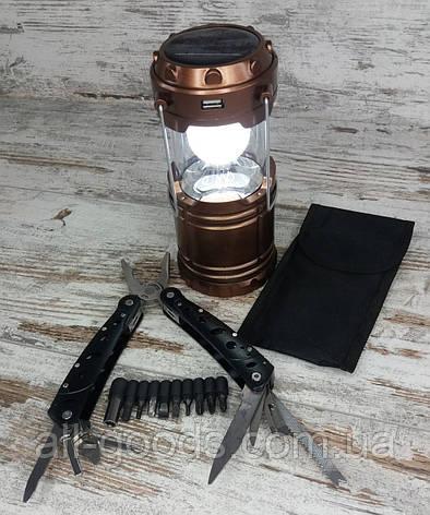 Кемпинговый складной фонарь G-85 в комплекте с многофункциональным ножом мультитул-плоскогубцы (728), фото 2