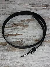 Качественный кожаный мужской джинсовый ремень BOSS черный, прочный оригинальный модный ремень, фото 2