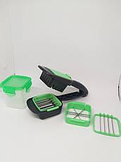 Ручная овощерезка Найсер Дайсер NICER DICER QUICK 5 в 1. Измельчитель для овощей. Многофункциональная терка., фото 3