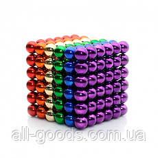 Неокуб Neocube різнокольоровий 216 кульок 5мм в металевому боксі. Магнітний конструктор антистрес неокуб., фото 3