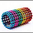 Неокуб Neocube різнокольоровий 216 кульок 5мм в металевому боксі. Магнітний конструктор антистрес неокуб., фото 4