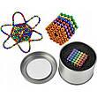 Неокуб Neocube різнокольоровий 216 кульок 5мм в металевому боксі. Магнітний конструктор антистрес неокуб., фото 5