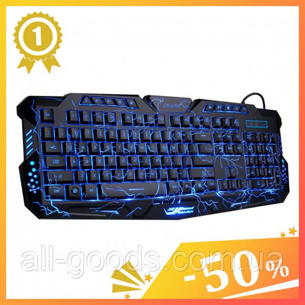 Клавіатура з підсвічуванням M-200 для комп'ютера. Клавіатура для ПК. Ігрова клавіатура. Клавіатура дротова