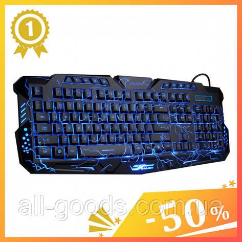 Клавіатура з підсвічуванням M-200 для комп'ютера. Клавіатура для ПК. Ігрова клавіатура. Клавіатура дротова, фото 2