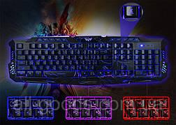 Клавіатура з підсвічуванням M-200 для комп'ютера. Клавіатура для ПК. Ігрова клавіатура. Клавіатура дротова, фото 3