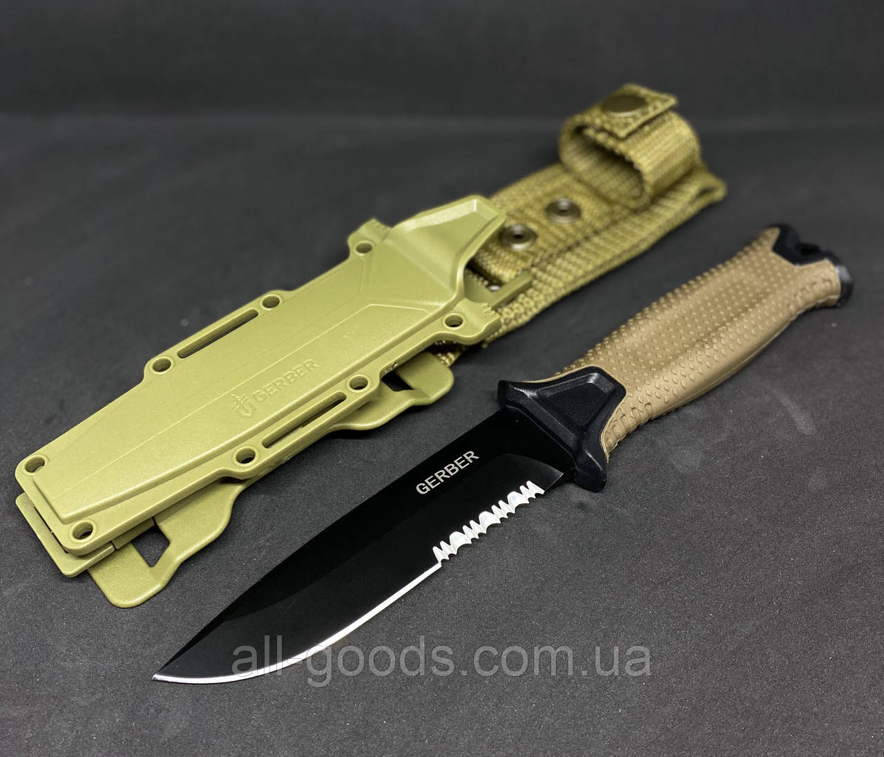 Тактичний ніж Gerber 810. Ніж для полювання, риболовлі та туризму. Мисливський ніж. Ніж для виживання. Ніж в