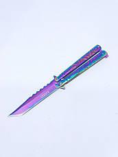 Нож бабочка или балисонг 22,5 см АК-55 градиент. Складной нож-бабочка. Балисонг из кс го cs go fade, фото 3